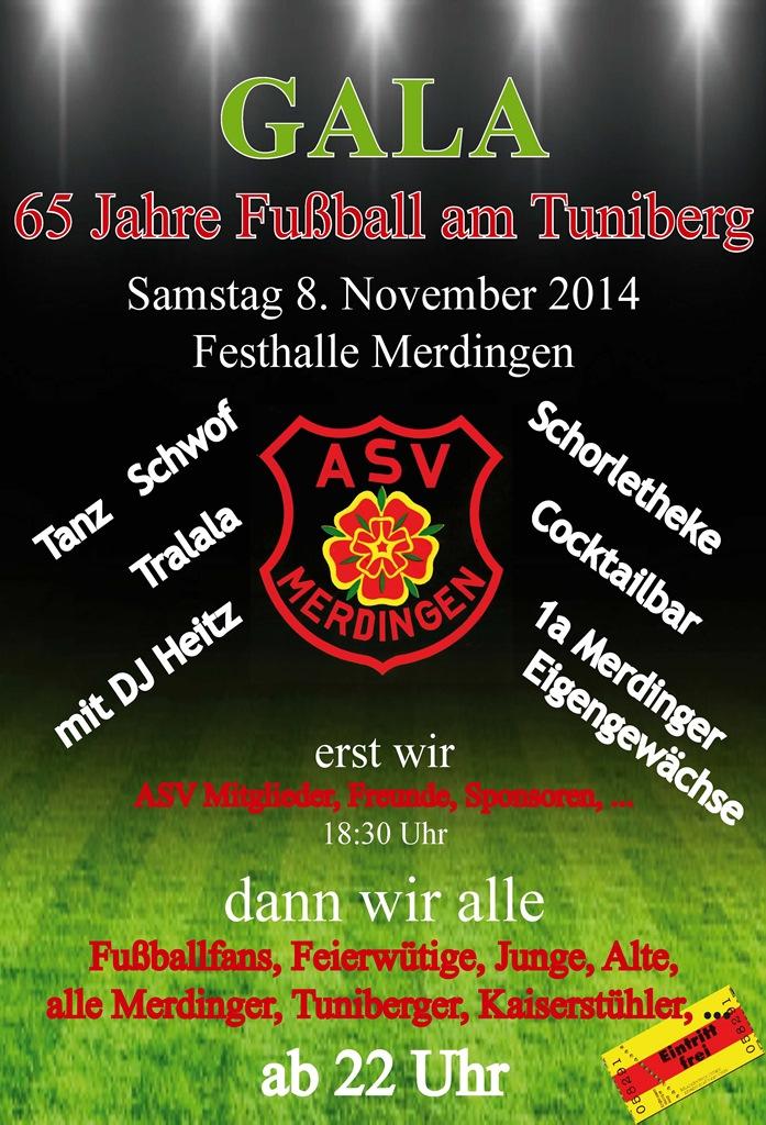 ASV Gala 65 Jahre Fußball am Tuniberg